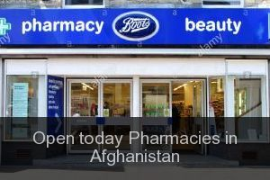 Open today Pharmacies in Afghanistan