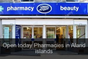 Open today Pharmacies in Aland islands