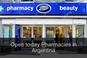 Open today Pharmacies in Argentina