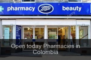 Open today Pharmacies in Colombia