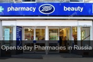 Open today Pharmacies in Russia