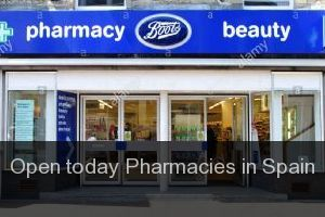 Open today Pharmacies in Spain