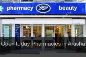 Open today Pharmacies in Arusha (City)