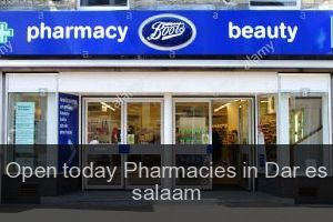 Open today Pharmacies in Dar es salaam (City)